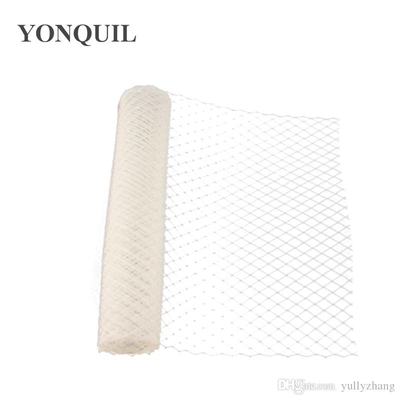 Ivory Birdcage Veils 45 CM width For women Mesh Veils fascinator bridal nettings material DIY Hair accessories 10yard/lot 2018 New arrival