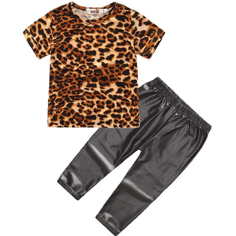 Ins Hot automne nouveau-né bébé fille tenues bébé vêtements ensemble été à manches courtes t-shirt + leggings enfants costume pour les filles