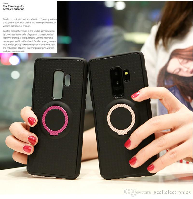 TPU Magnetic Ring Holder Cell Phone Cases For Samsung Galaxy S20 A71 Huawei P40 Iphone 11 Pro Redmi Note 9 8T Armor Covers