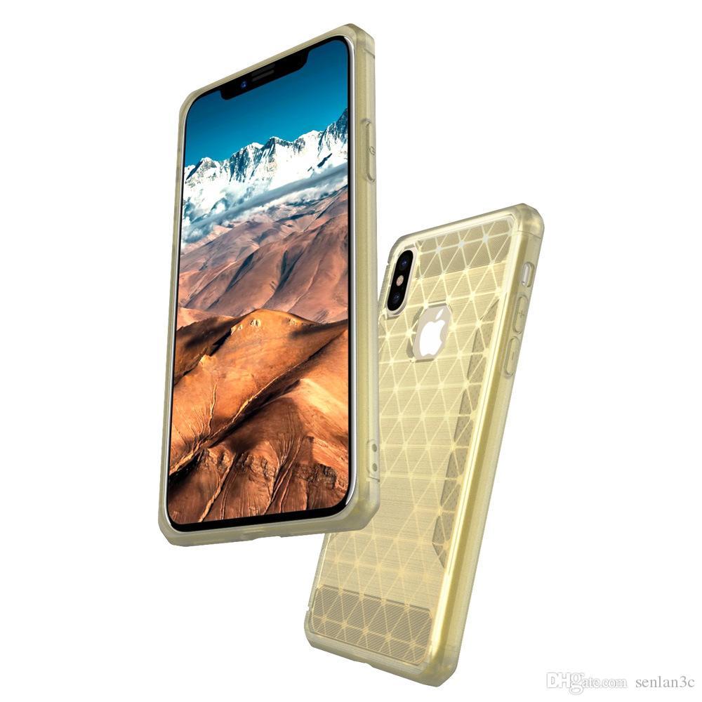 Четыре угловых воздушной подушке стиль Shockrpoof Симфония красочные ТПУ задняя крышка телефона чехол для iPhone Х 7 8 плюс 6 S плюс SE
