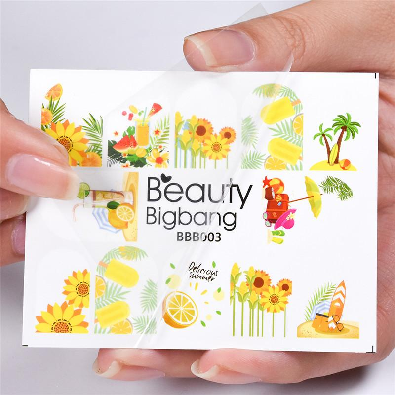 58e7a87ea BeautyBigBang 1 Sheet Sunflower Designs DIY Nail Stickers Manicure Stickers  Nail Art Decoration Printing Water Decals BBB003 Toe Nail Stickers Vinyl  Nail ...