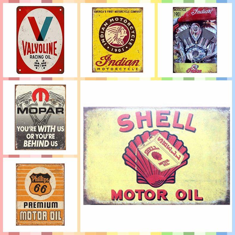 Satın Al Shell Motor Yağ Metal Kalay Işaretleri 20 30 Cm Boya Lüks