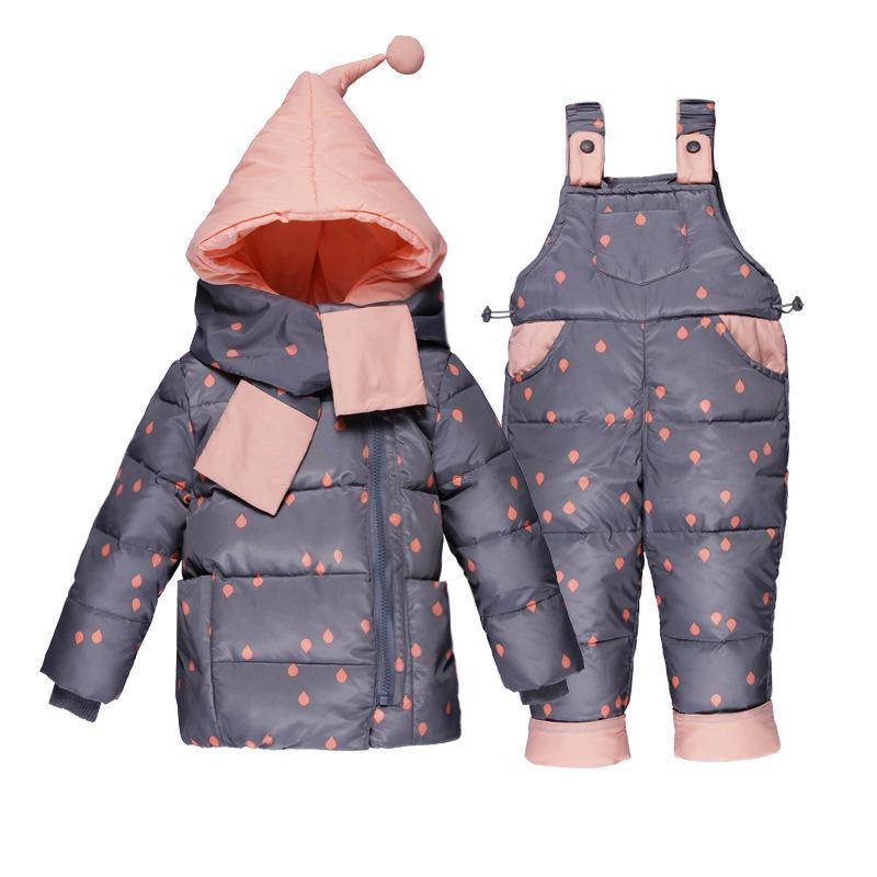 601f30ca1 Baby Girls Winter Outerwear Coats Kid Thicken Down Snow Wear ...