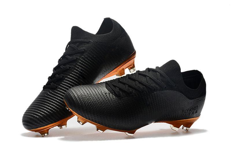 Botines de fútbol bajos Zapatos de fútbol rojos negros 100% originales Botas de fútbol Mercurial Vapor Fly Ultra FG