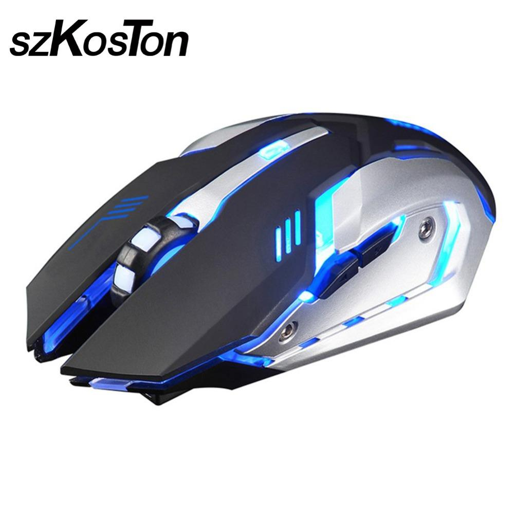 2018 X7 Cool Wireless Gaming Mouse Ergonomic 24ghz Computer Led Luminous For Pc Laptop Pro Gamer From Businesshome