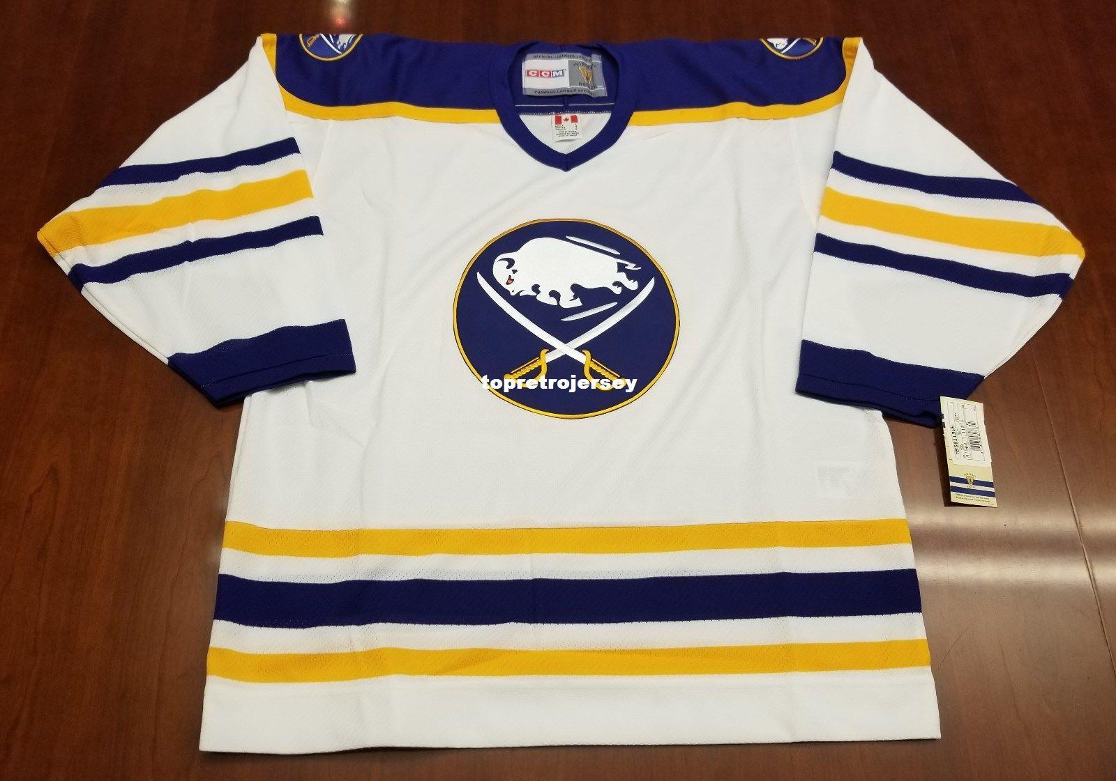2019 Wholesale Custom Buffalo Sabres Vintage CCM 550 Cheap Hockey Jersey  White Brand New With Tags Mens Retro Jerseys From Topretrojersey 552e89bdc5e