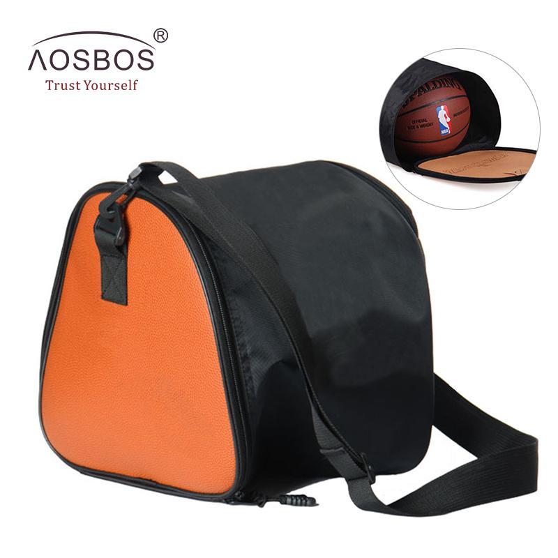 acf191f25fbf9 Acheter Aosbos 2018 Sacs De Basket Ball Pour Les Femmes Hommes Imperméable  En Cuir Sac De Sport Léger Sacs De Remise En Forme Pour Le Basket Ball  Sport Sac ...