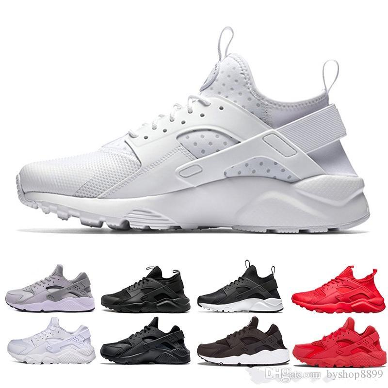 a74f42087f850 2019 Huarache 4.0 1.0 Classical Triple White Black Red Mens Womens Huarache  Shoes Huaraches Sports Sneaker Running Shoes Size Eur 36 45 Girls Running  Shoes ...
