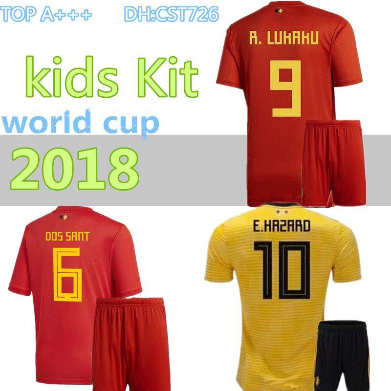 2018 World Cup Belgium Kids Jerseys Belgium Home Away Red Football ... 3c4059c9d