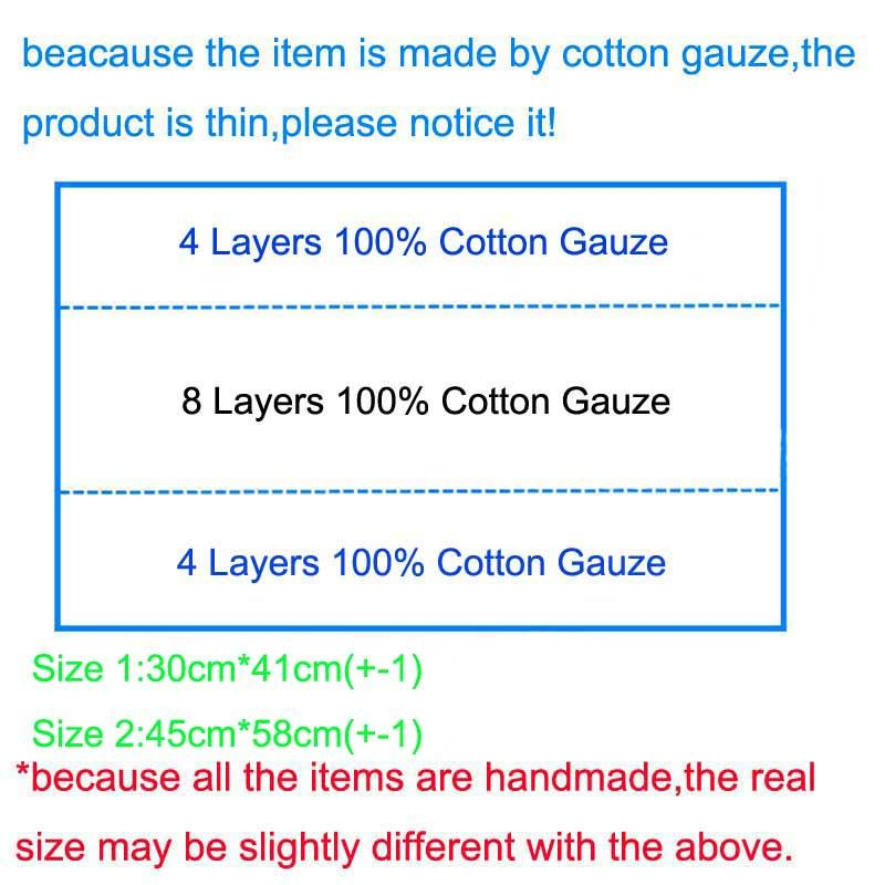Cotton Gauze Baby Cloth Prefold Diaper Nappy High Absorbent Reusable Insert For Baby Diapers Nappies 4*8*4 Layers Cloth Nappy