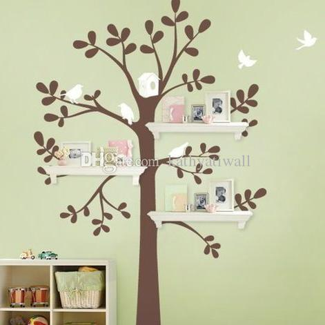 Großhandel Schöne Baum Wandaufkleber Baby Kindergarten Baum Wandtattoo  Kinderzimmer Großen Baum Familie Wanddekor Cut Vinyl Aufkleber T3 Von ...