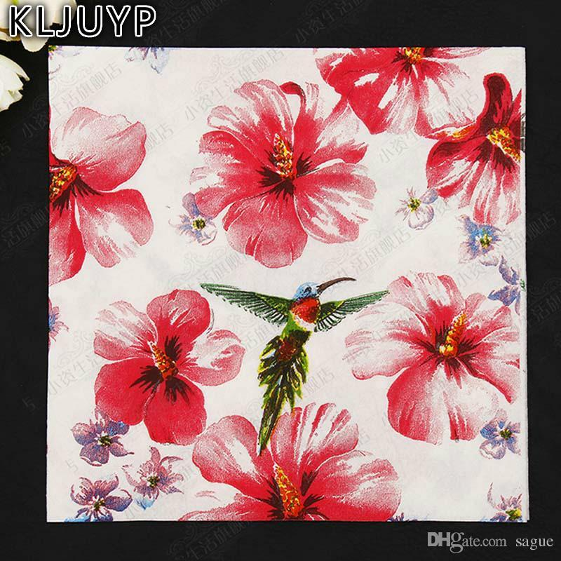 Online cheap wholesale kljuyp birds flowers paper napkin festive online cheap wholesale kljuyp birds flowers paper napkin festive party tissue napkins decoupage decoration paper 33cm33cm packby sague dhgate mightylinksfo