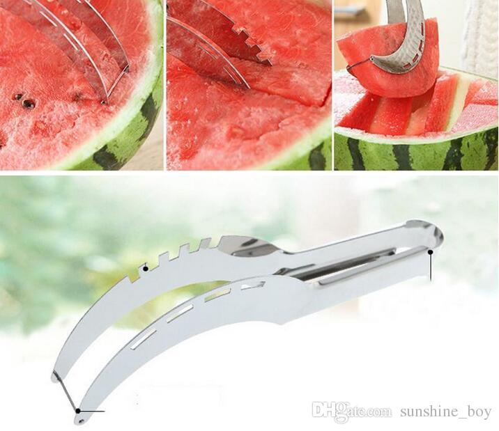 New stainless steel watermelon slicer cutter kitchen tools gadgets Melon cutter knife fruit segmentation Watermelon Corer with color package
