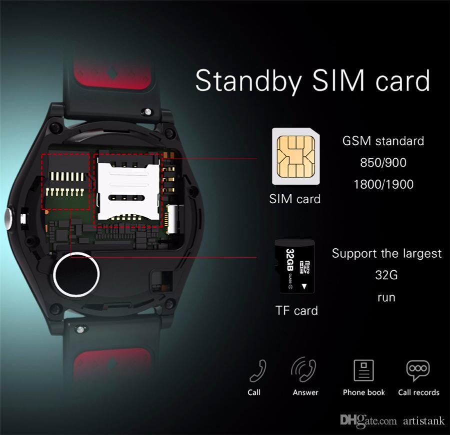 V9 Bluetooth Relógio Inteligente Smartwatch Built-in Slot para Cartão SIM de Sincronização de Chamada Relógio GPS Inteligente relógios Pode Gravar Estado Do Sono Para Android Com pacote
