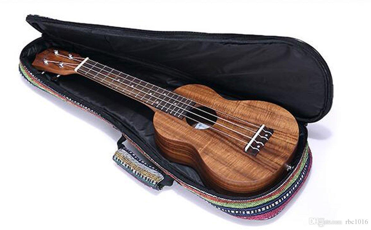 Sıcak Satış Ağır Ukulele Vakaları Ukulele Yastıklı Çanta için 21 inç, 23 inç, 26 inç - Soprano için Harika / Konser / Tenor Ukulele