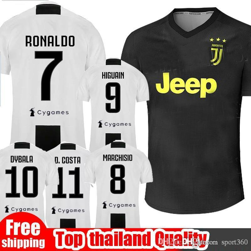d7499ccd1 SIZE S-XXL 2018 2019 Juventus Soccer Jersey 18 19 RONALDO DYBALA ...
