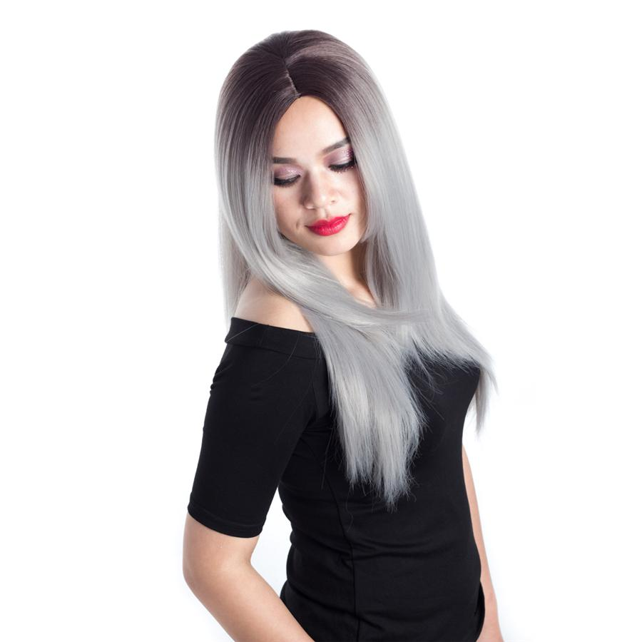 Top venta rosa larga sedosa recta de encaje peluca resistente al calor pelo sintético de alta calidad para mujeres negras SASSY GIRL