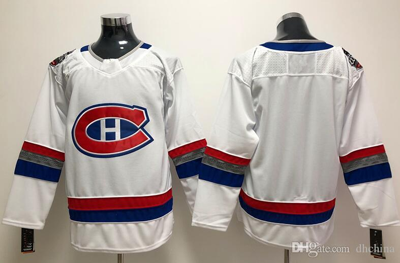 best service dc0fc 6356b New Montreal Canadiens 100 Classic Jersey Breakaway Blank 2018 New Brand  Hockey Jerseys White Color Size M-XXXL Mix Order All Jerseys