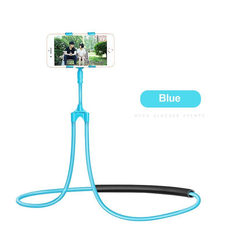 Lazy Hanging Neck Phone Stands for 3.5-6 inch Cellphone Holder Universal Flexible Phone Selfie Holder Porta Celular Bracelet for iPhone X LG