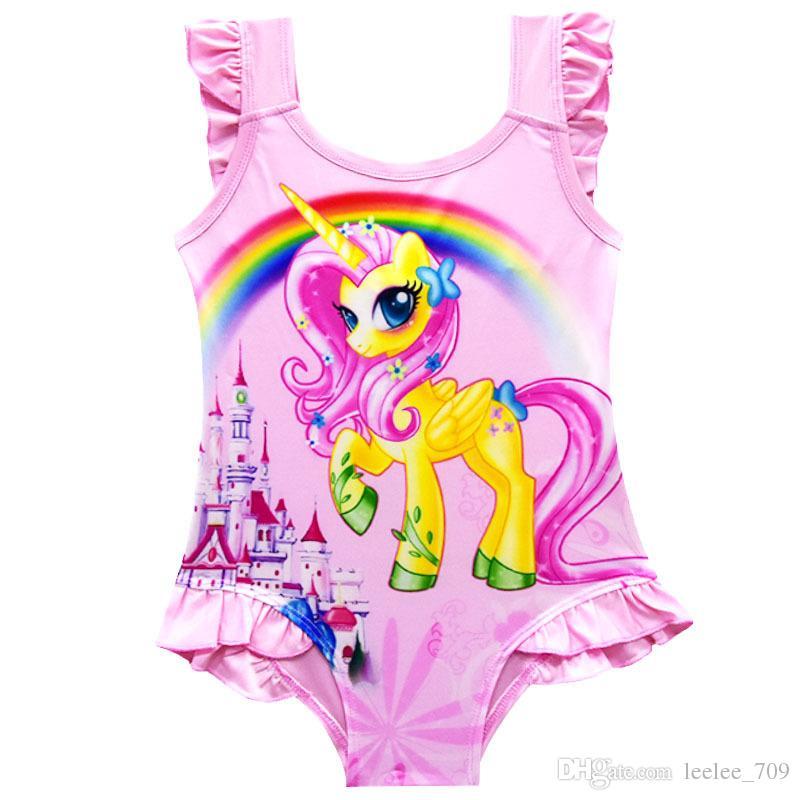 6 design INS Einhorn Bademode One Piece Bowknot Badeanzug Bikini Große Kinder Sommer Cartoon Infant Schwimmen Badeanzüge Beachwear KKA5080