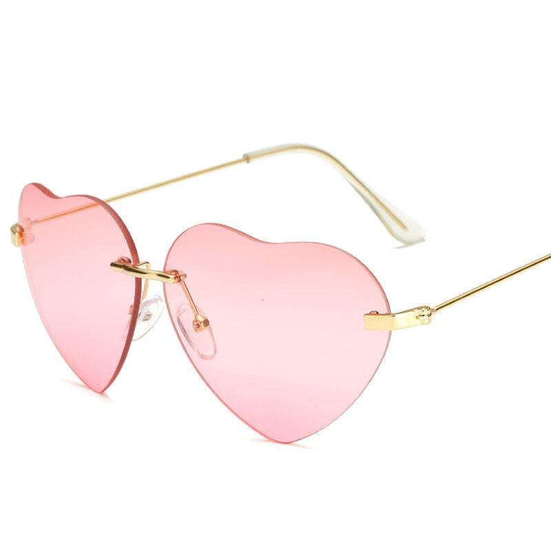 Compre Moda Em Forma De Coração Do Amor Óculos De Sol Retro Mulheres Sem  Aro Óculos De Sol Do Vintage Gafas Óculos Oculos De Sol Uv400 Máscaras De  Sihuoguo, ... 16654cbac6