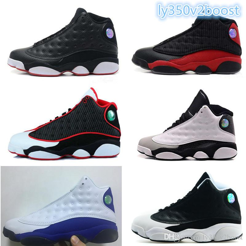 2018 Mens Basketball Shoes 13 Bred Black True Red History Of Flight DMP Discount Sports Shoe Women Sneakers 13s Black Cat With Box free shipping high quality 8dYyX