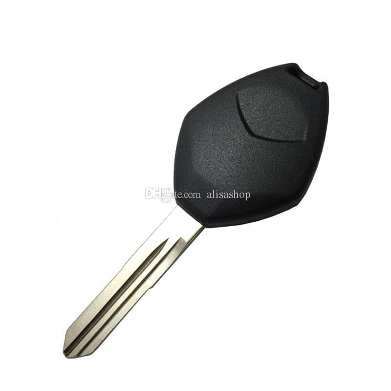 3 düğmeler yedek uzaktan araba anahtarı durum kabuk logo olmadan Mitsubishi için sol bıçak ile