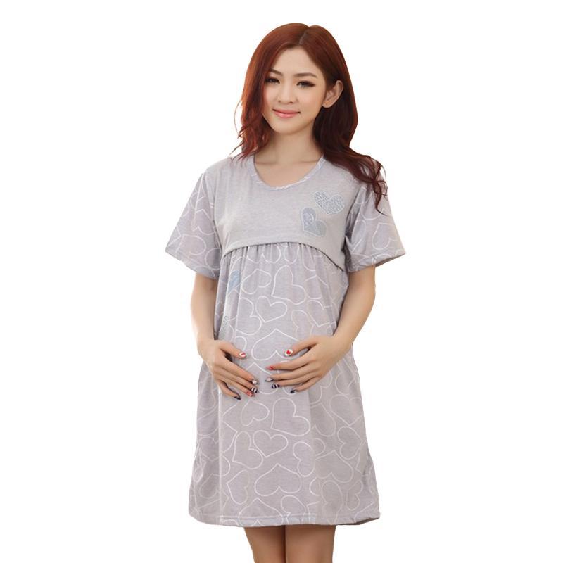 60f4e836f Compre Home Amamentação Maternidade Camisola Pijama Enfermagem Camisola  Maternidade Vestido Para Mães Lactantes Roupas Mulheres Grávidas De  Fkansis