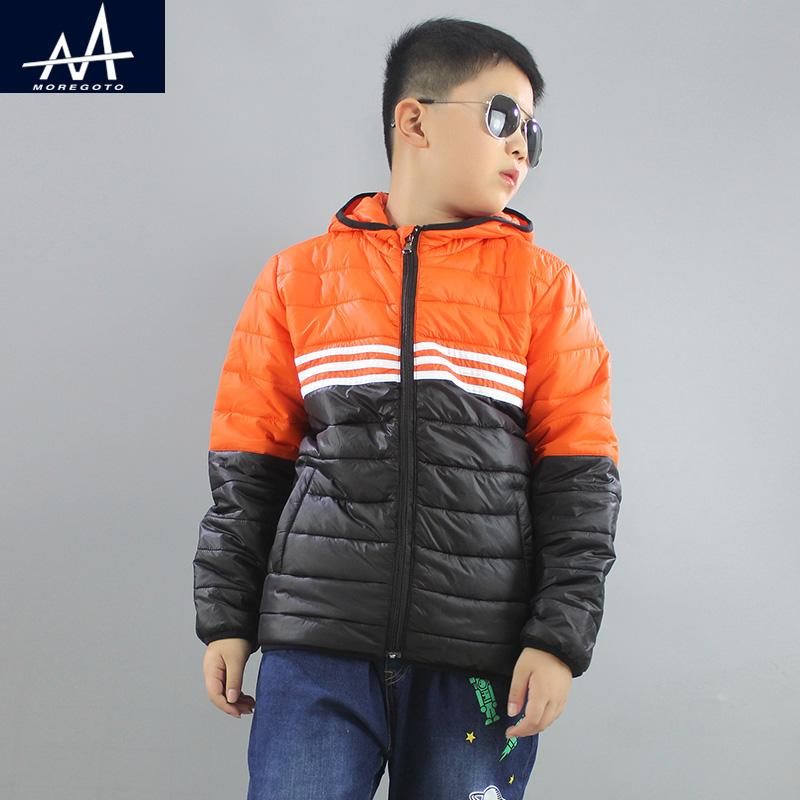 2017 neue Stil Winter Kinder Kapuzenjacke Jungen Parka Mantel Lose Teen Boy Mantel Jacke Outwear Jacke Fett Jungen Alter 9-10-11-12Y