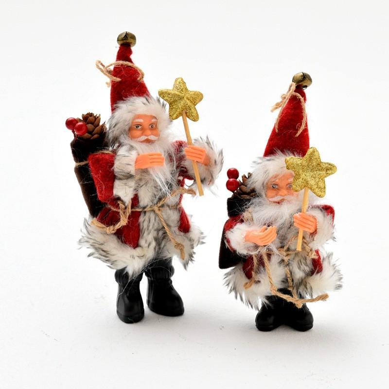 Schöne Weihnachtsgeschenke.Schöne Weihnachtsgeschenke Dekoration Ornamente Flanell Weihnachtsmann Elch Stehen Hause Schneemann Cosplay Kid Geschenke Plüschtiere Puppe Für
