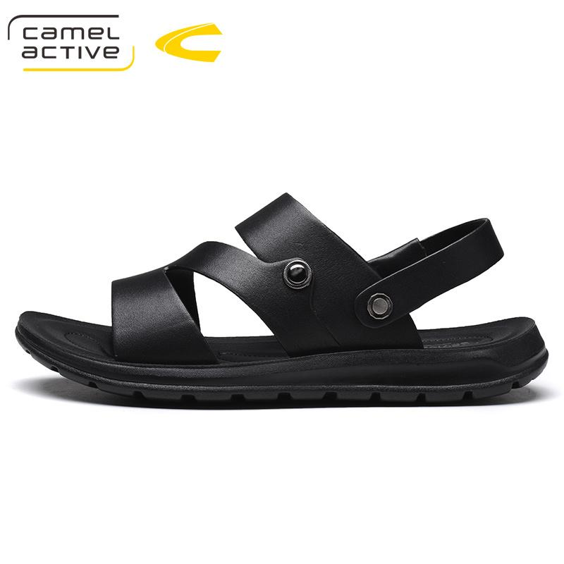 6f43c95a6d6da Camel Active Mens Sandals Genuine Leather Summer 2018 Brand New Beach Men  Wading Water Sandals Breathable Men Casual Shoes 18111 Heels Gladiator  Sandals ...
