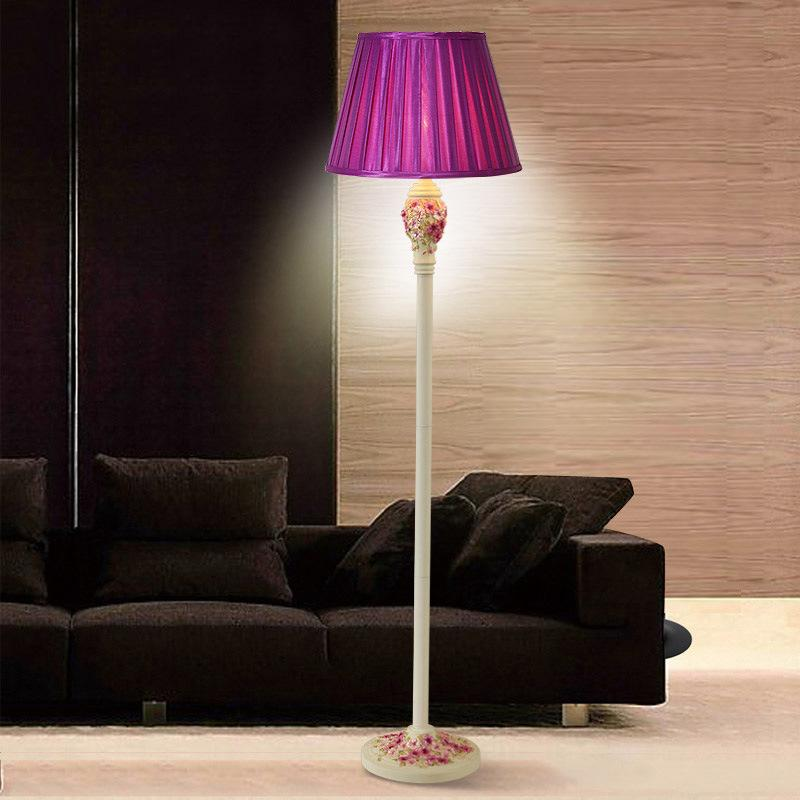 Wonderful 2018 TUDA 2017 Simple Floor Lamp Decoration Lamp Sitting Room Floor Lamps  Rose Carved Garden Purple Pansy Painting Lighting From Jinyucao, $245.38 |  DHgate.