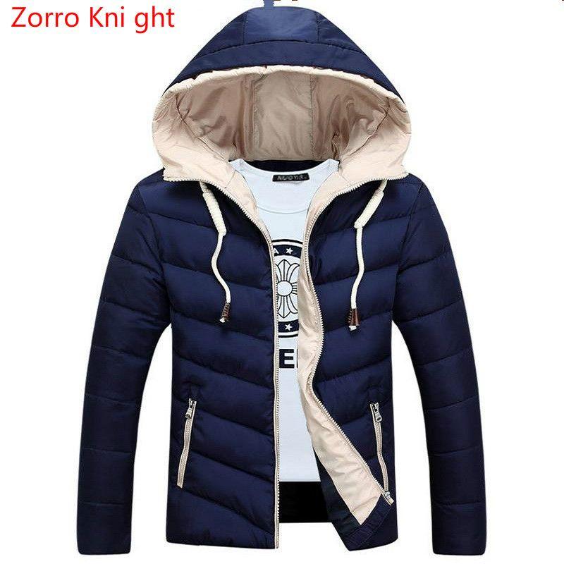 8018dc8dbef6 Großhandel Zorro Kni Ght Winterjacke Männer Verdickung Casual Warm  Pelzkragen Kragen Jacken Mantel Marke Design Outwear Veste Homme Parkas Von  Donahua, ...