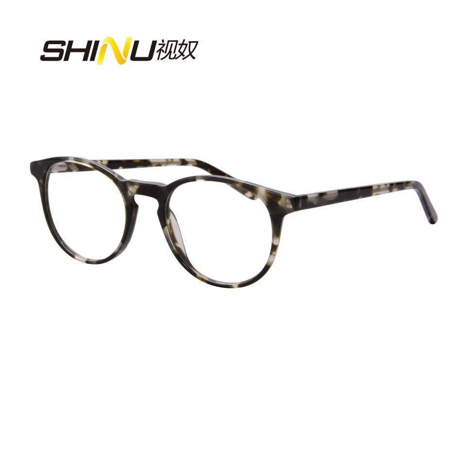 2018 Top Fashion Women Eyeglasses Retro Vintage Round Rimmed Acetate ...