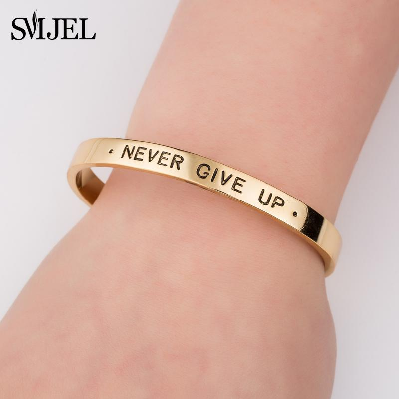 SMJEL Personalized Inspirational Quote Never Give Up Letter Alphabet Ring Women Luxury Graduation Jewelry Gift For Women SZ097 Bengali Bangles Purple ... & SMJEL Personalized Inspirational Quote Never Give Up Letter Alphabet ...