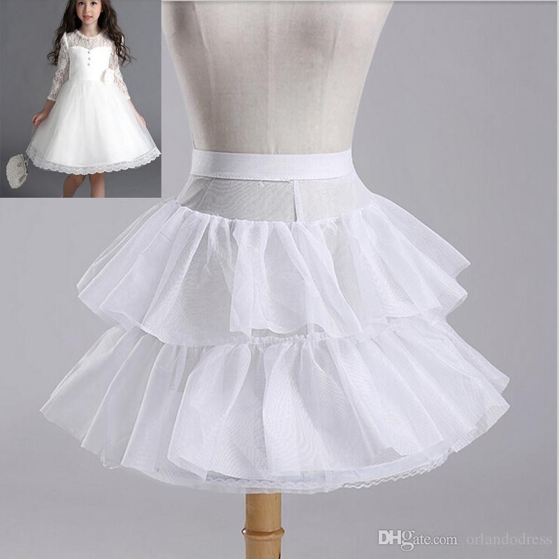 23431fbf9028 Brand New Children Petticoats For Wedding Bride Bridesmaid Accessories  Crinoline White 1 Hoop 2 Layer Flower Girl Dress Kid Underskirt Petticoat  Bridal ...