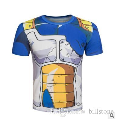 2017 Ball Z Hommes 3D Dragon Balldragon ball t shirt Hommes chemise anime 3d t-shirt imprimé compression chemise tops Fitness t
