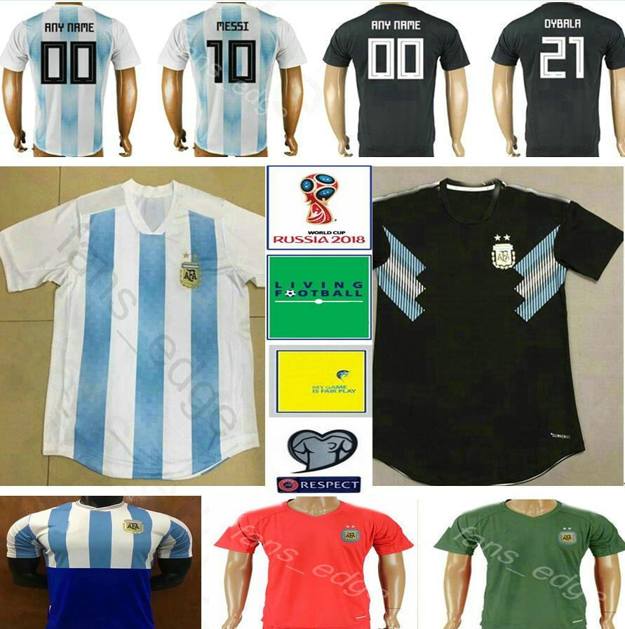 c85e1ae6d1d 2019 2018 World Cup Argentina Soccer Jersey 10 MESSI KUN AGUERO MARADONA  HIGUAIN DI MARIA LAMELA DYBALA Custom Home Away Football Shirt From  Fans_edge, ...