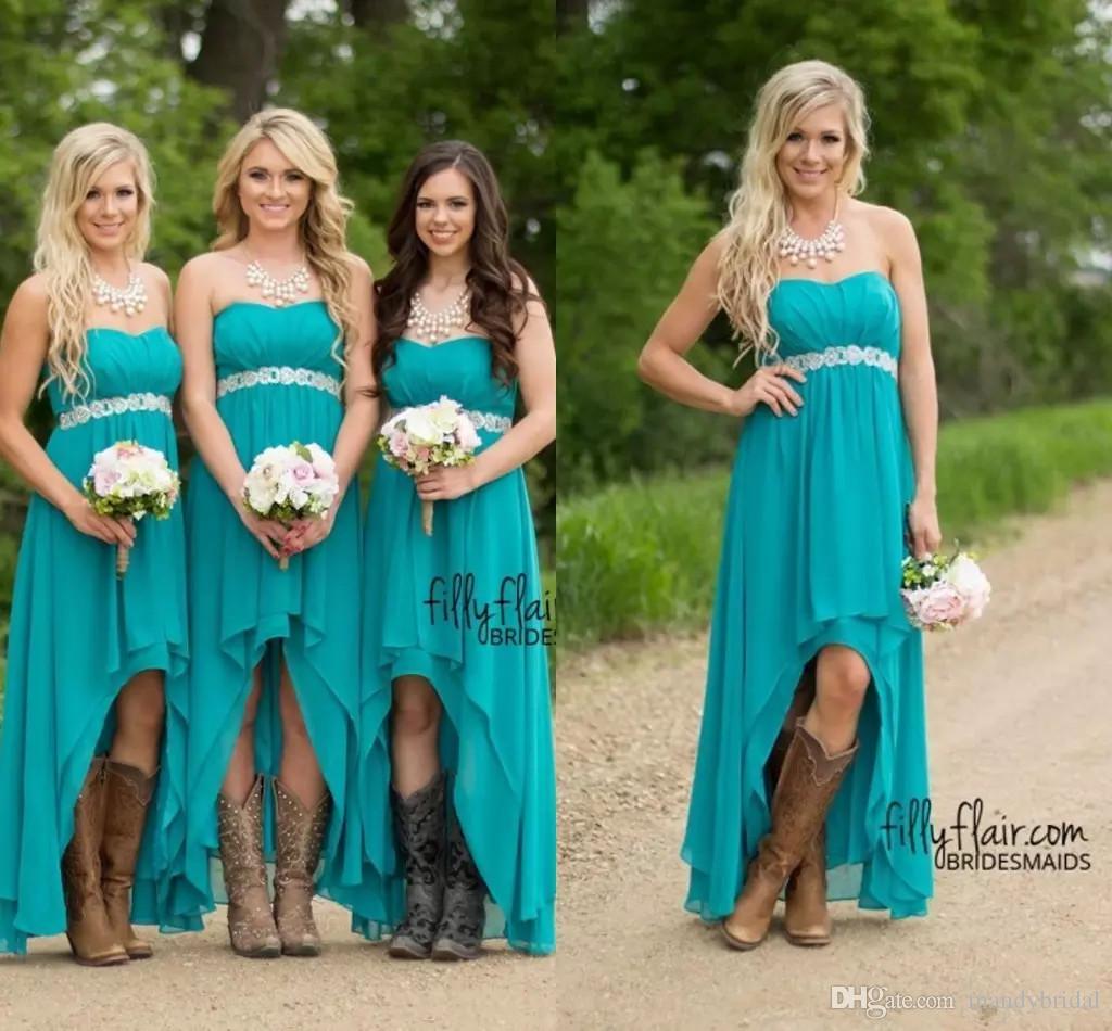 Vestidos para damas de honor azul turquesa