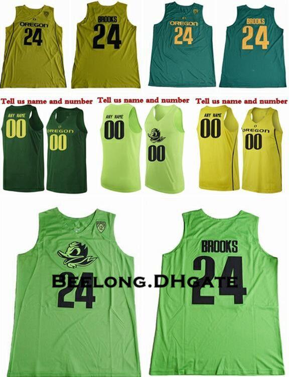 aded71e53 ... order custom 2018 oregon ducks dillon brooks college basketball jerseys  24 dillon brooks shirts green cheap