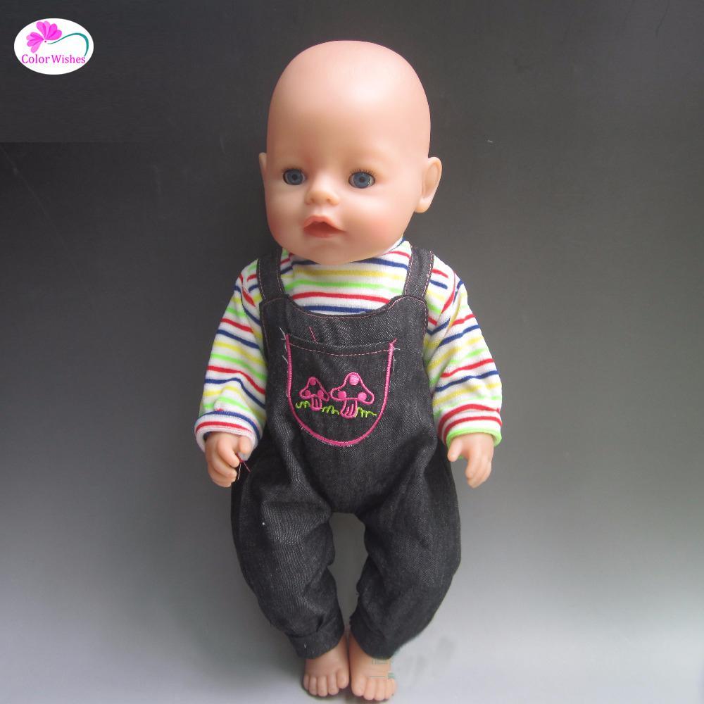 Fit 43 cm Zapf Baby Born Doll Vêtements Vêtements décontractés Vêtements Vêtements Cadeau de Noël Accessoires de poupée Pas de poupées