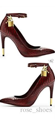 2018 New Spring Lock Ankle Strap Pumps Handmade Lady Office High Heels Leather Shoes Women Multicolours Free Dropship