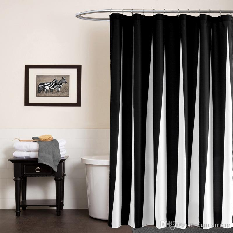 2018 Modern Polyester Shower Curtains Black White Striped Printed  Waterproof Fabric Bathroom Curtain Eco Friendly Home Hotel Supply From  Dannymeng, ...