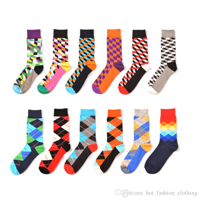 e0216ddf438 Men s Funny Socks High Quality Brand Happy Filled Optic Combed Cotton  Wedding Sock Christmas Casual Crew Dress Party Socks Novelty Gifts