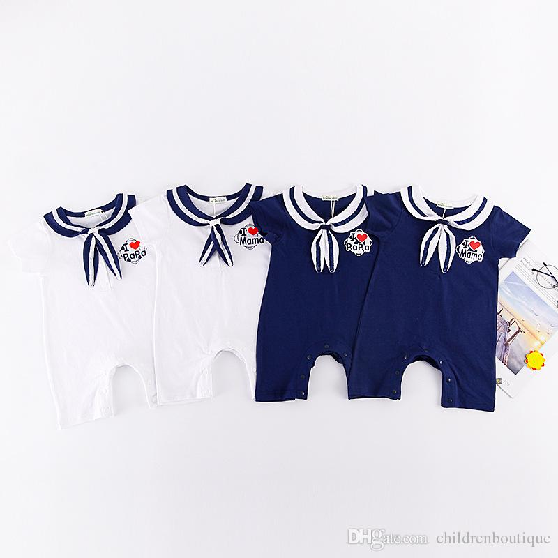 c319ecc39 2019 Baby Rompers 2018 Newest Hot Sale Casual Newborn Navy Style ...
