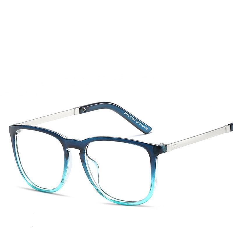 Compre Moda Azul Mens Armações De Óculos Ópticos Unises Quadrado Clássico  Envoltório Quadro Homens Marca De Luxo Óculos Claros Masculino Quadro Oculos  De ... 6f94c313dd