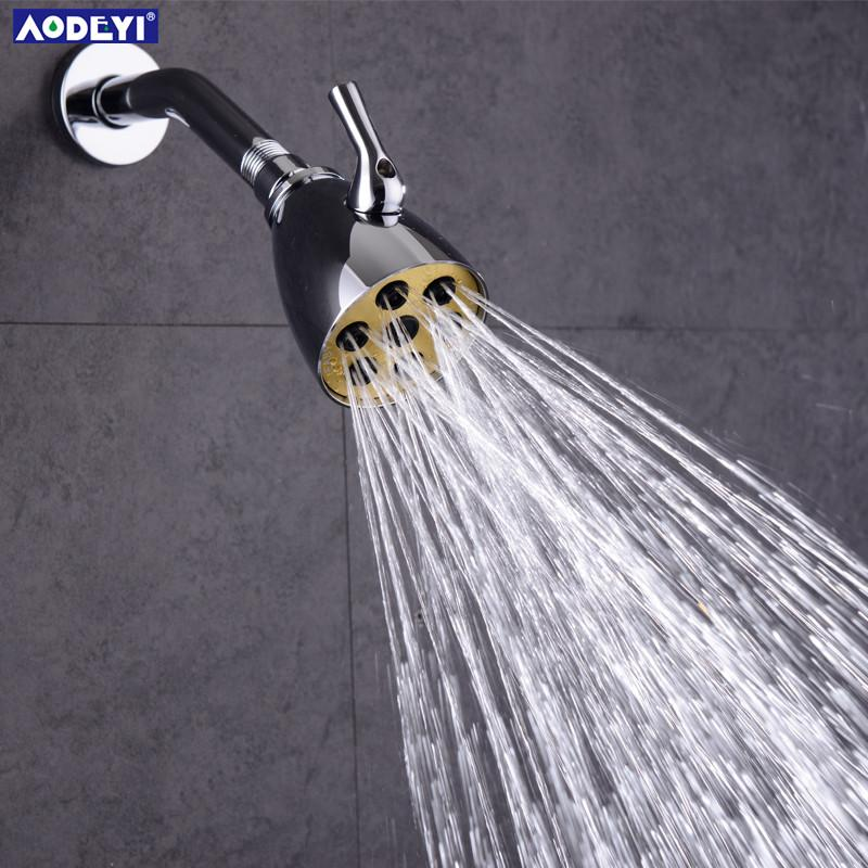 2019 3 Functions Brass High Pressure Adjustable Rainfall Shower Head