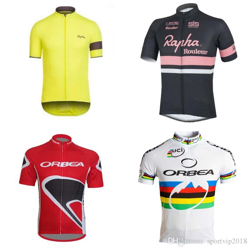 Rapha ORBEA 2019 Cycling Jersey Short Sleeve Summer Cycling Shirt Cycling  Clothes Bike Wear Custom Made Comfortable Breathable Shirt K101801 Cycling  Tops ... b08d6a10b