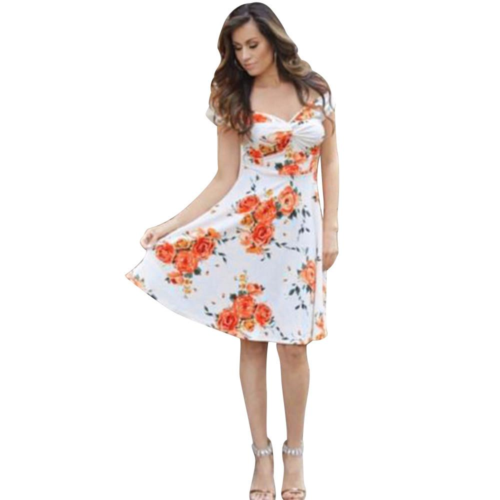 35d34184036b9 Vetement Femme 2019 Bohemian Style Elegant Mom Me Lady Floral Print  Sleeveless Flower Dress Family Outfits Clothes Vestiti Donna Women Black  Dresses Casual ...