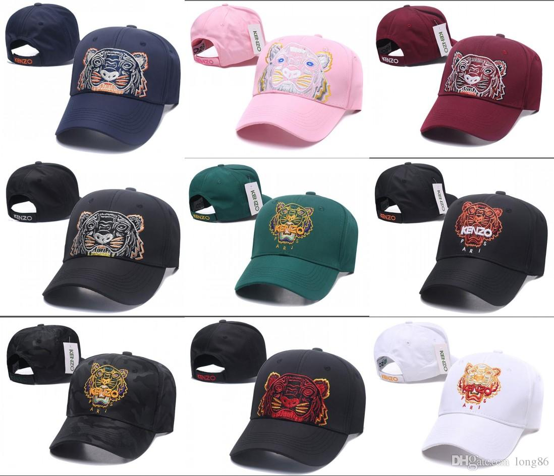 2019 New Style Tiger Embroidery Baseball Caps Luxury Unisex Baseball ... 0edd60cf465